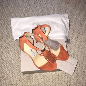 Jimmy Choo suede shoes size 37